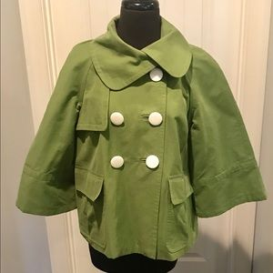 Unique Dbl.Breasted 3/4 length sleeve short jacket